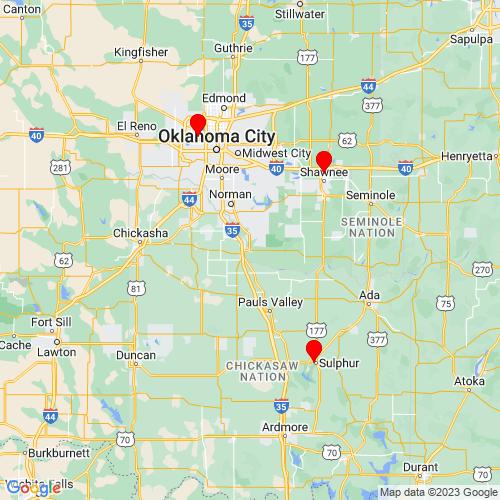 Map of Lexington, OK
