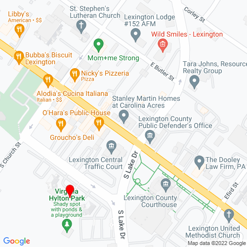 Map of Lexington, SC