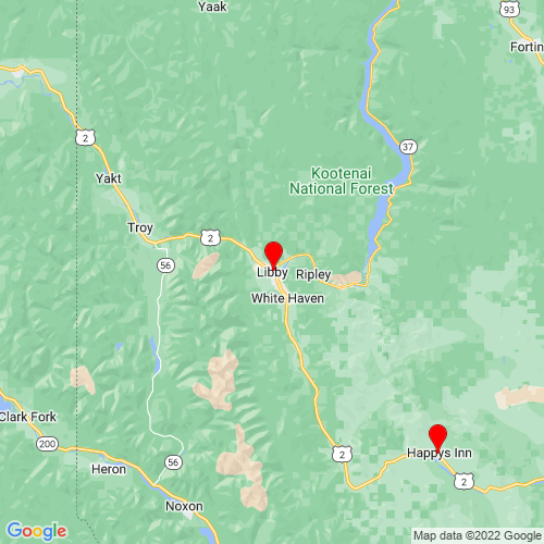 Map of Libby, MT