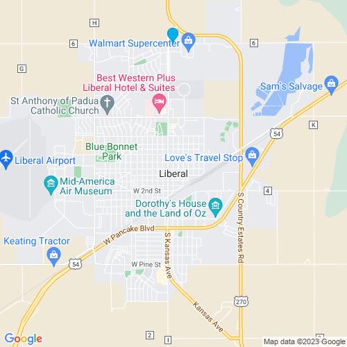 Map of Liberal, KS