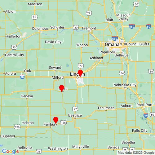 Map of Lincoln, NE