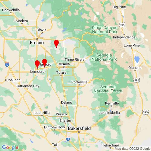 Map of Lindsay, CA