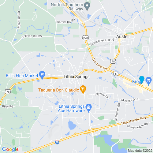 Map of Lithia Springs, GA