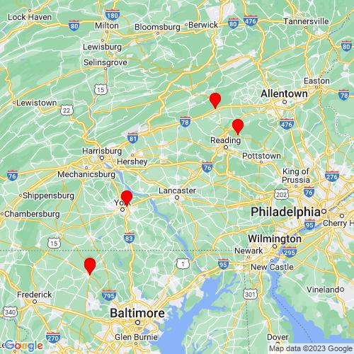Map of Lititz, PA