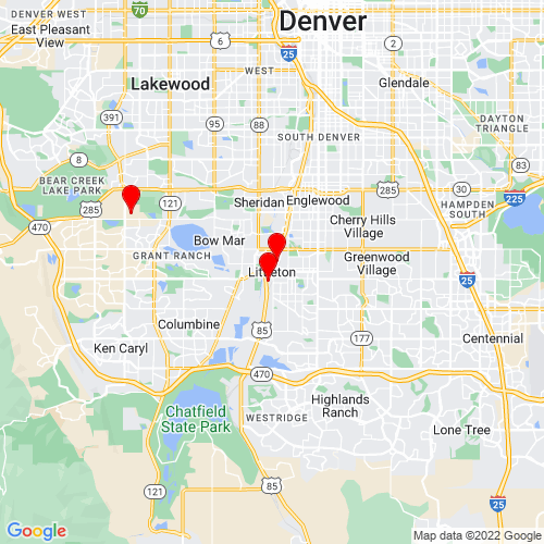 Map of Littleton, CO