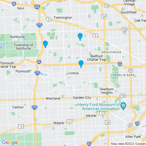 Map of Livonia, MI