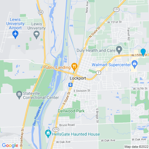 Map of Lockport, IL