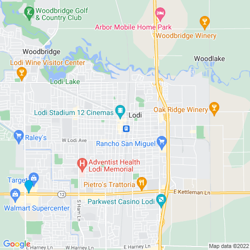 Map of Lodi, CA