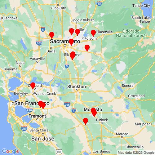 Map of Lodi, CA