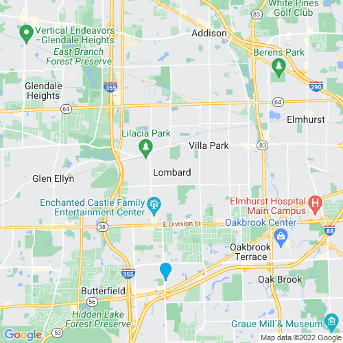 Map of Lombard, IL