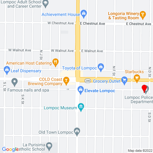 Map of Lompoc, CA