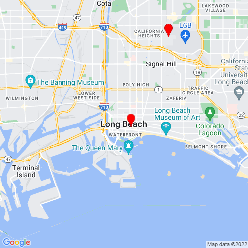 Map of Long Beach, CA