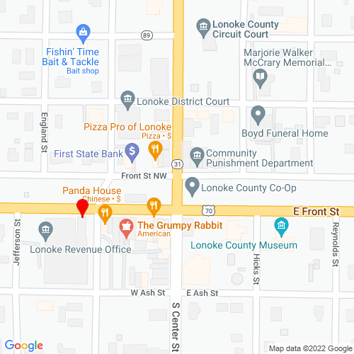 Map of Lonoke, AR