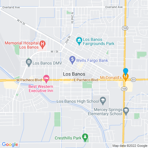 Map of Los Banos, CA