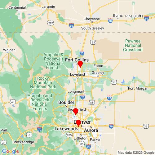 Map of Loveland, CO
