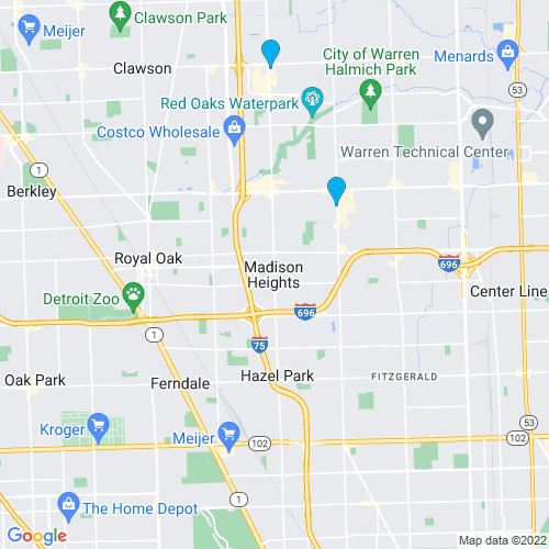 Map of Madison Heights, MI