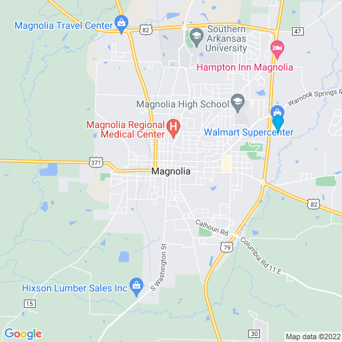 Map of Magnolia, AR