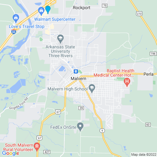 Map of Malvern, AR