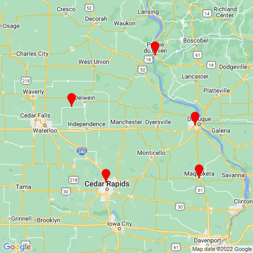 Map of Manchester, IA