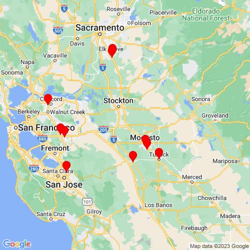 Map of Manteca, CA