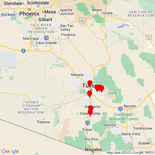 Map of Marana, AZ