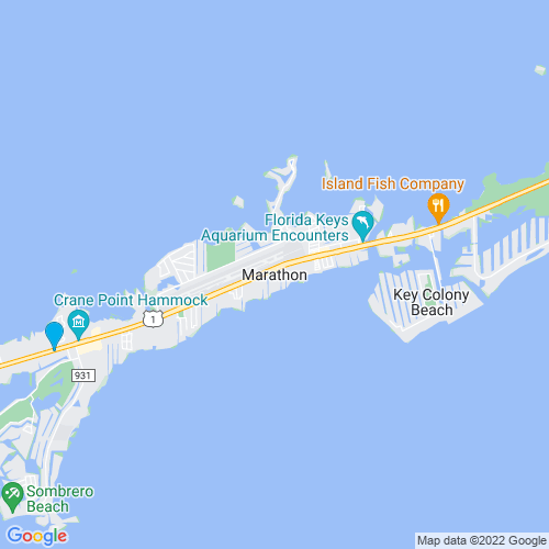 Map of Marathon, FL