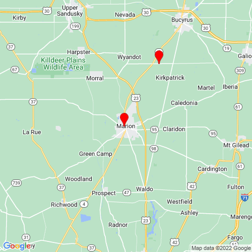 Map of Marion, OH