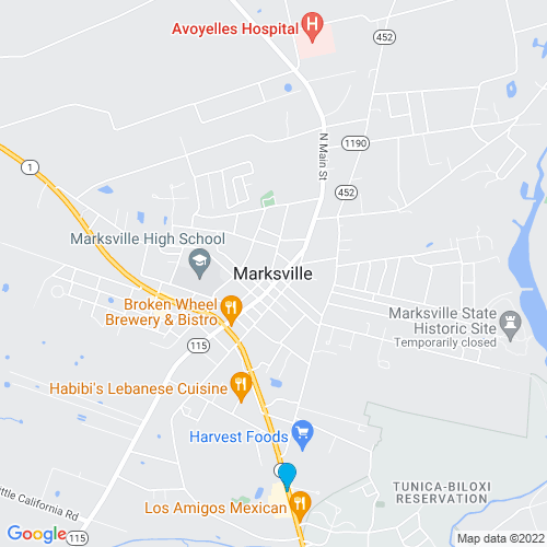 Map of Marksville, LA