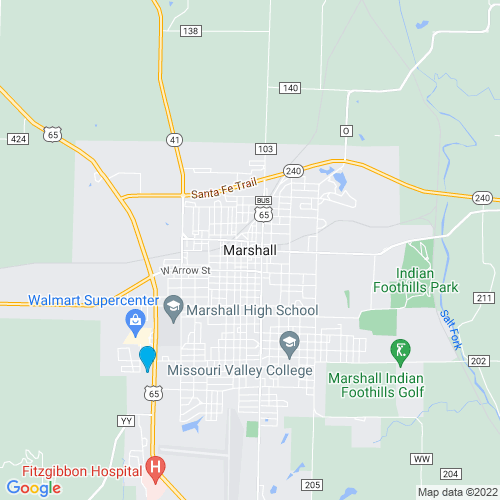 Map of Marshall, MO