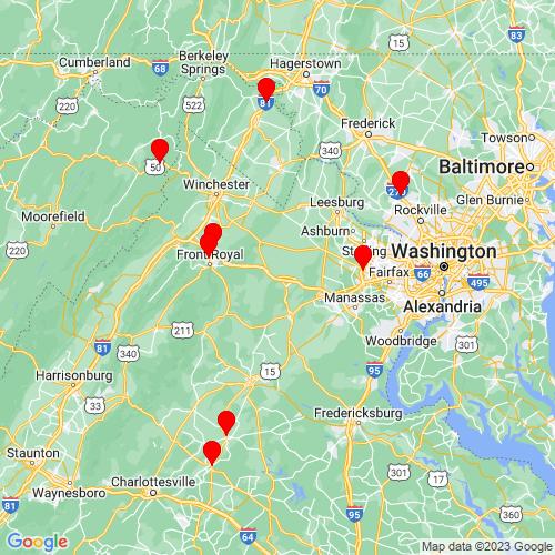 Map of Marshall, VA