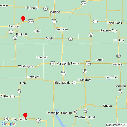 Map of Marysville, KS