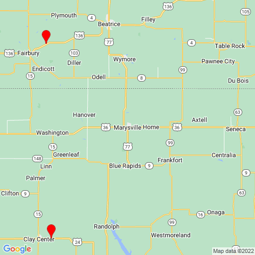 Map of Marysville, KS