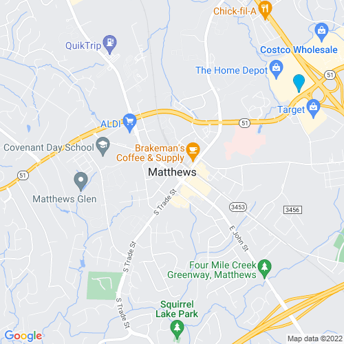 Map of Matthews, NC