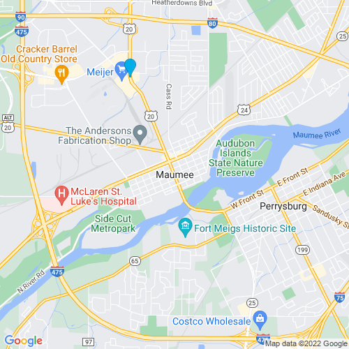Map of Maumee, OH