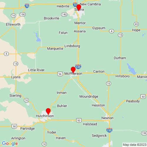 Map of Mcpherson, KS