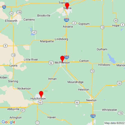 Map of Mcpherson, KS
