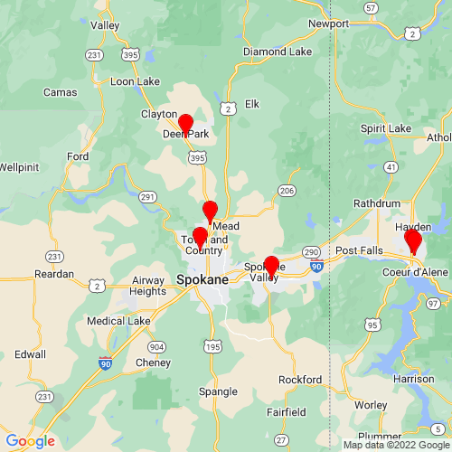Map of Mead, WA