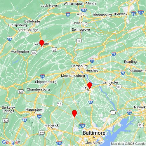 Map of Mechanicsburg, PA