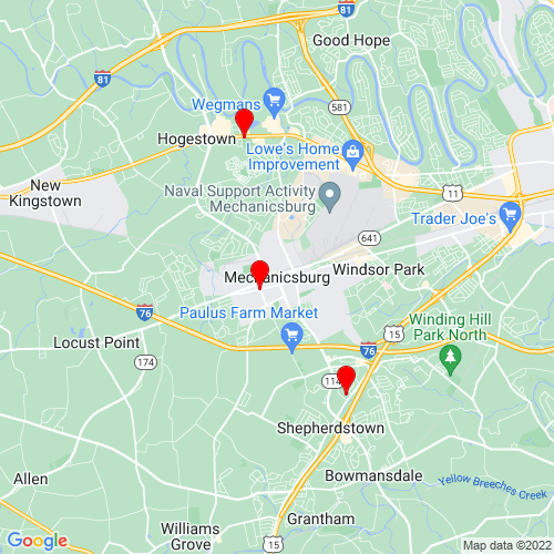 Map of Mechanicsburg, PA