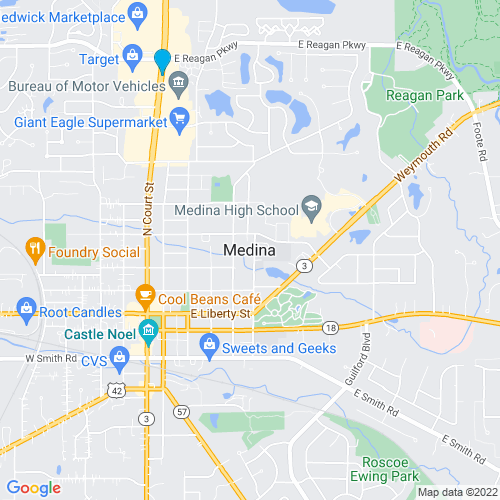 Map of Medina, OH