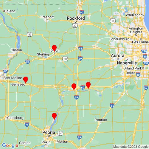 Map of Mendota, IL