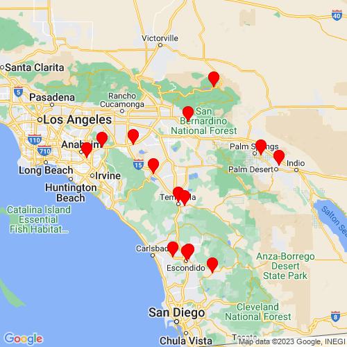 Map of Menifee, CA