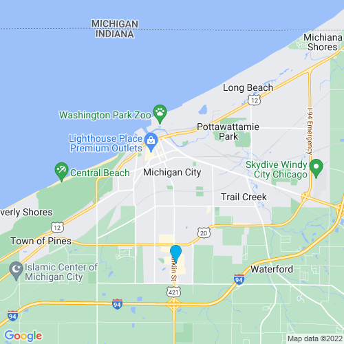 Map of Michigan City, IN