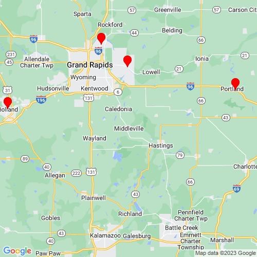 Map of Middleville, MI