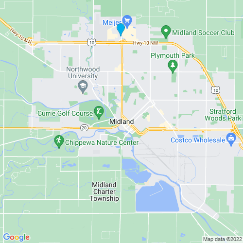 Map of Midland, MI