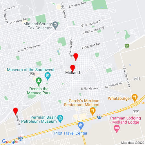 Map of Midland, TX