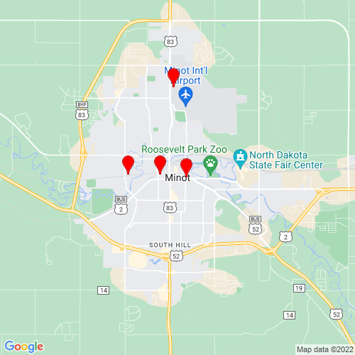 Map of Minot, ND