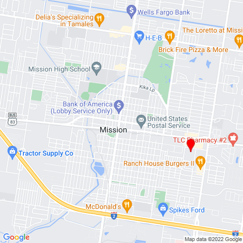 Map of Mission, TX