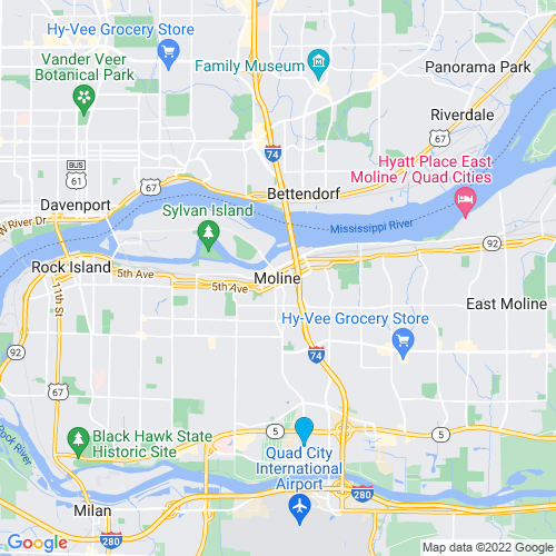 Map of Moline, IL