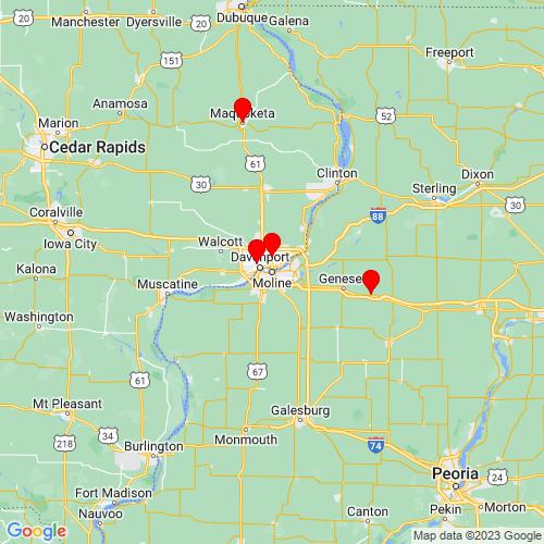 Map of Moline, IL
